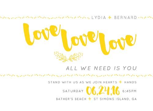 wedding invitations - love love love by Maggie Ziomek