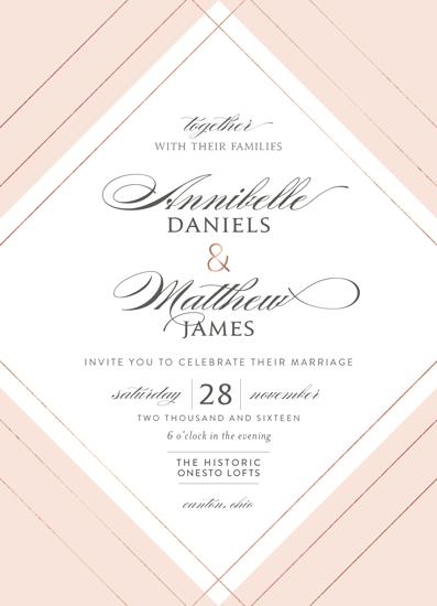 wedding invitations - elegantly lined by Robin Ott