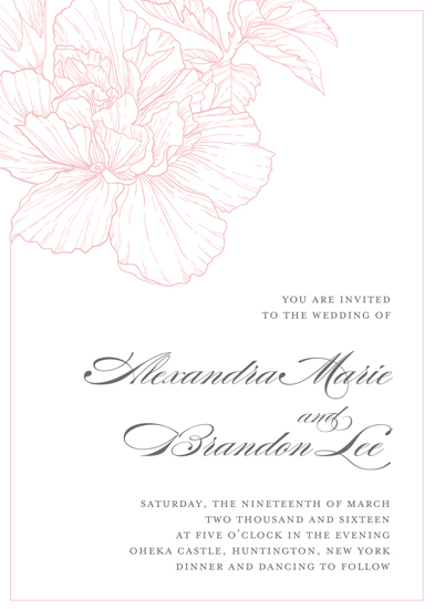 wedding invitations - Classic Floral by Gray Star Design