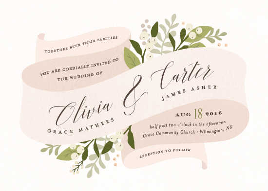 wedding invitations - Ribbonly by Jennifer Wick