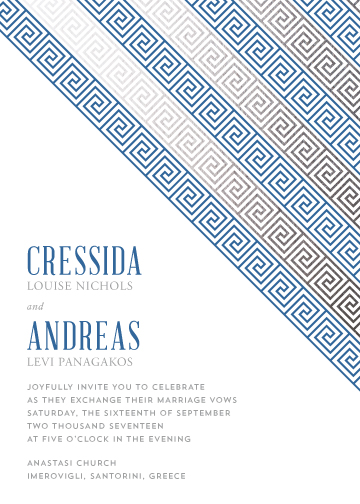 wedding invitations - Modern Greek Key by Melissa Casey