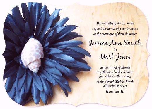 wedding invitations - Shell Flower by ryana