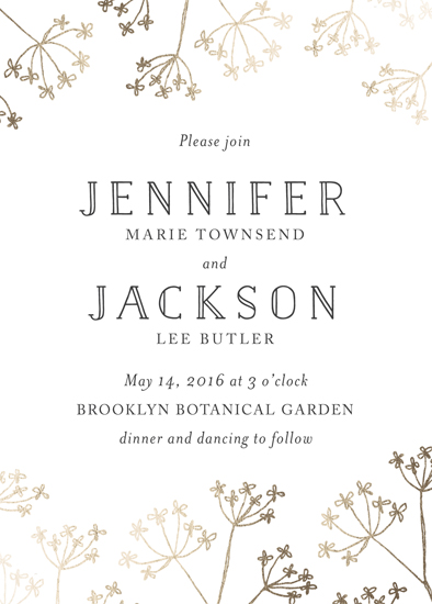 wedding invitations - Whimsy Florals by Gray Star Design