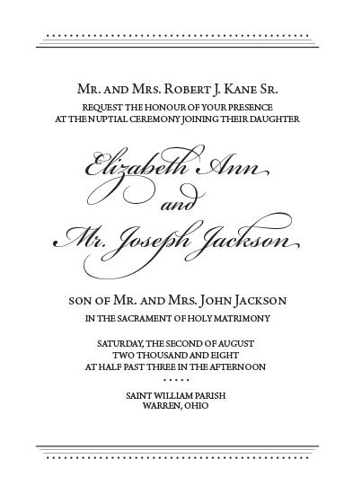 wedding invitations - Modern Romance by EKJ designs