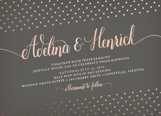 wedding invitations - Dotted Diamonds by Carrie Hendrix