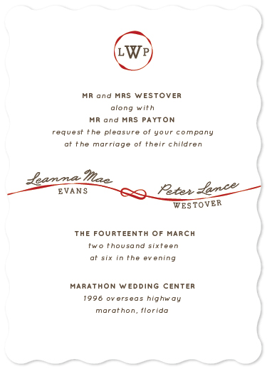 wedding invitations - Red String of Fate by carohug