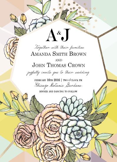 wedding invitations - botanic geo by Gaby Herrera