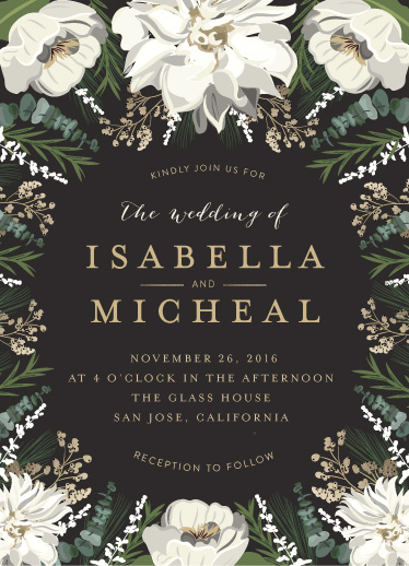 wedding invitations - Winter White by Susan Moyal