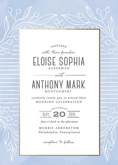 wedding invitations - Light Azure by Elska Studio
