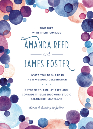 wedding invitations - Studio Glass by Cherry Tree