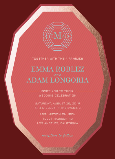 wedding invitations - Modern Monogram by eb
