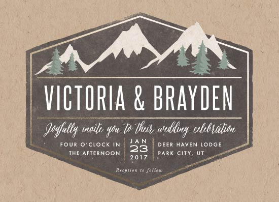 wedding invitations - rustic mountain by Karidy Walker