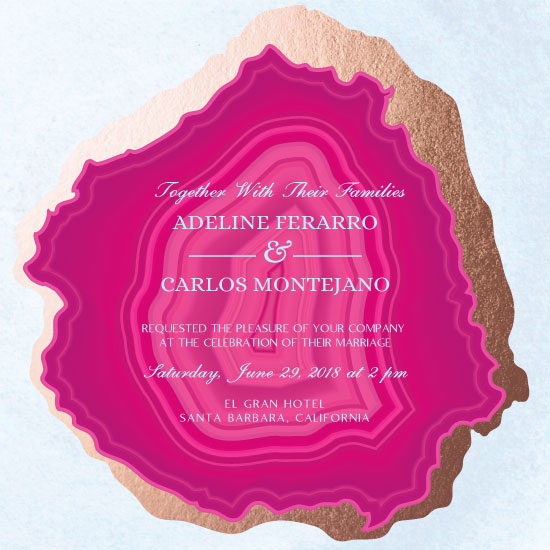 wedding invitations - Pink Agate by eb