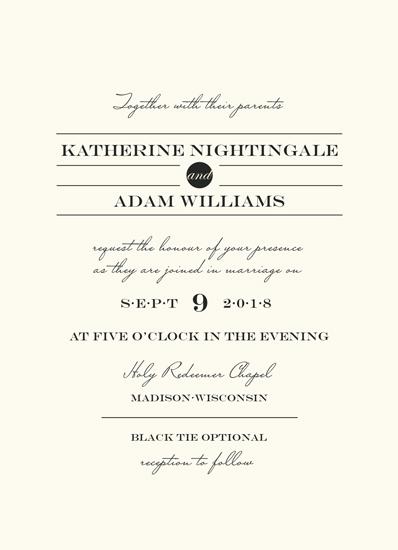 wedding invitations - Sophisticate by Catherine Culvenor