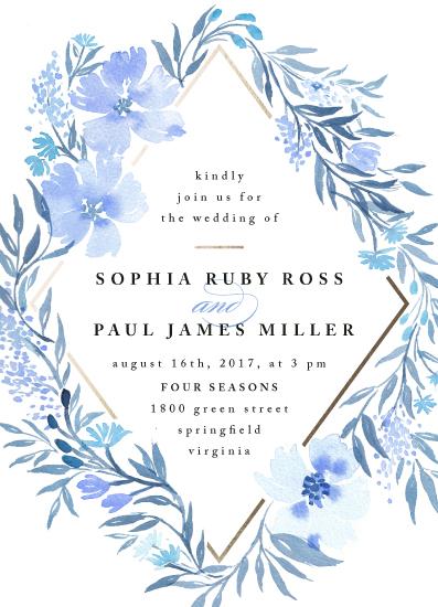 wedding invitations - Poetic Blue by Qing Ji