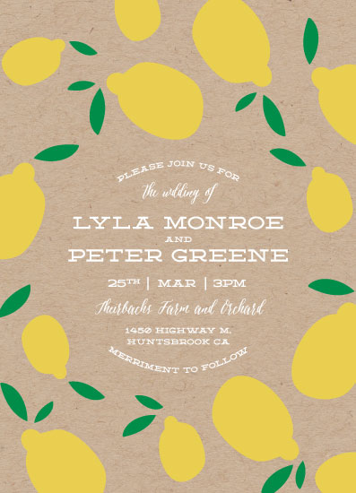 wedding invitations - Lemony by Jen Owens
