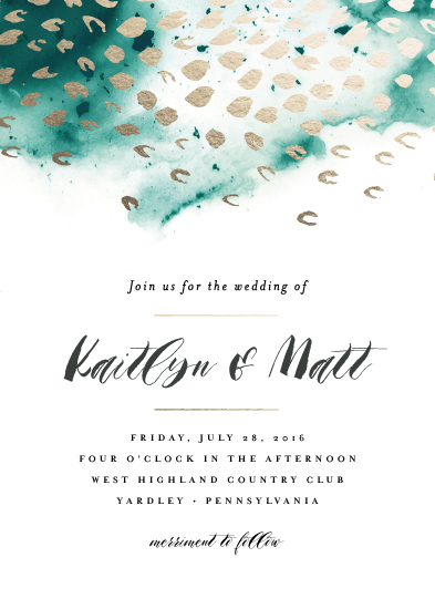 wedding invitations - serene waters by Jennifer Wick