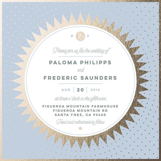 wedding invitations - Golden Sun by Helen Seebacher