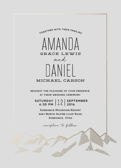 wedding invitations - Mountain Vista by Rebecca Daublin