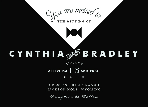 wedding invitations - Tuxedo by Michael John Paul Lapar