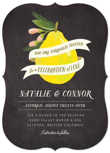 wedding invitations - Anjou by Griffinbell Paper Co.