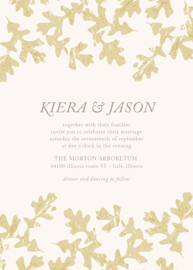 wedding invitations - Autumn Leaves by Melissa Casey