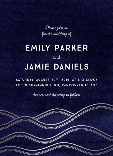 wedding invitations - Moonlight Ocean by Cherry Tree