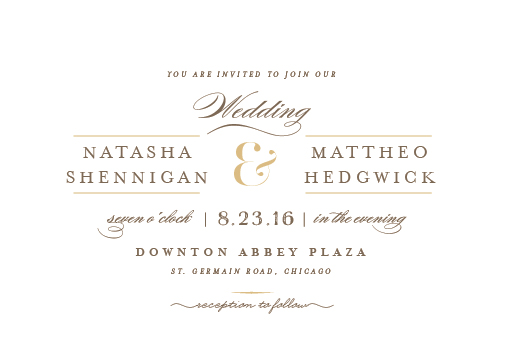 wedding invitations - valencay by chocomocacino