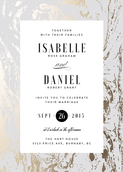 wedding invitations - Modern Marble by Kelly Schmidt