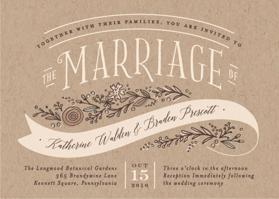 wedding invitations - Rustic banner by Jennifer Wick