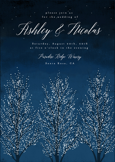 wedding invitations - Shimmering Trees by Kelly Schmidt