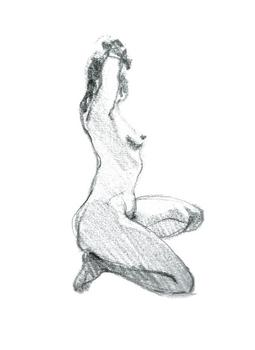 Figure Sketch/ squating