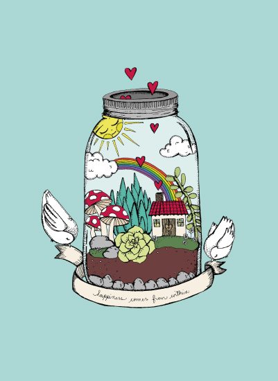 art prints - Happy Terrarium by Gaby Herrera