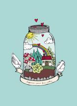 Happy Terrarium by Gaby Herrera