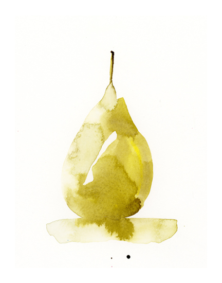 art prints - Golden Pear by Lindsay Megahed