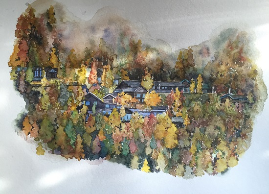 art prints - little forest in the fall by XL