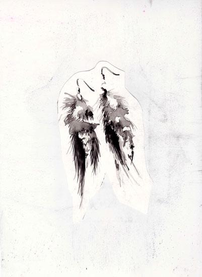 art prints - Feather Earrings by Kyla Donkersgoed