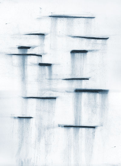 art prints - Charcoal Waterfall by Kyla Donkersgoed