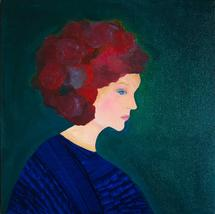 head full of flowers by Julie Cohen
