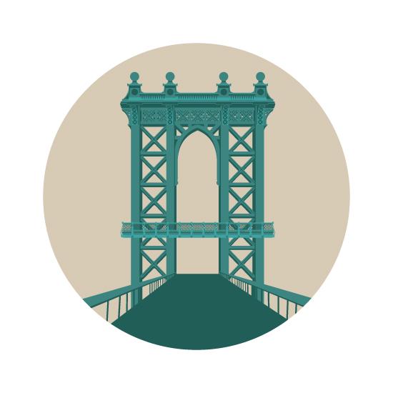 art prints - Manhattan Bridge by Bonnie Brunner