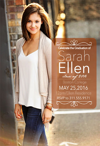 graduation announcements - Inviting Curls by Laurie Beasley