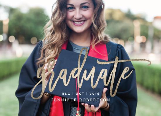 graduation announcements - Statement by Phrosne Ras