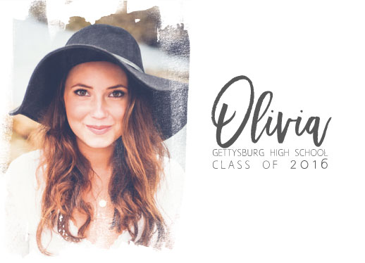 graduation announcements - CeleBRUSHon by Kelly Clabaugh