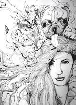 Puggy Fly Lady by John Wynn