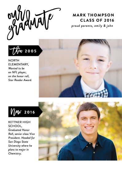 graduation announcements - Marked Up by Ashley Hegarty