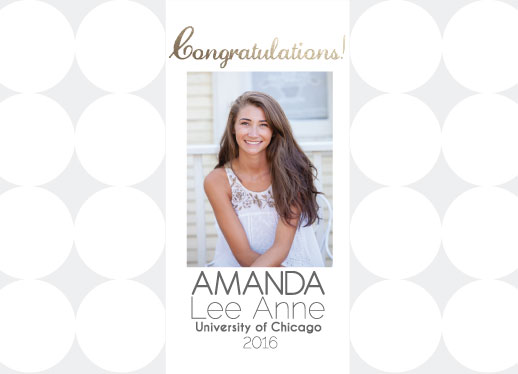 graduation announcements - well rounded by Laurie Beasley