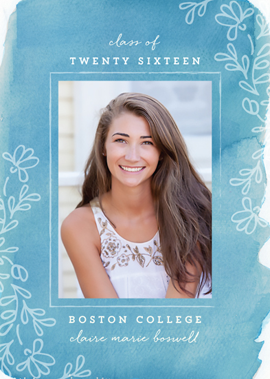 graduation announcements - Floral Baccalaureate by Chris Griffith