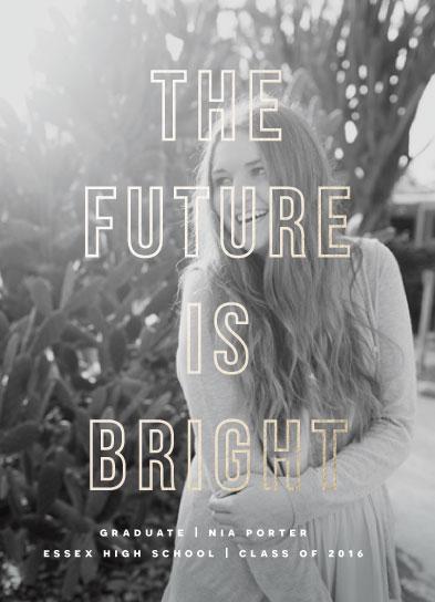 graduation announcements - Bright Grad by Bonjour Berry