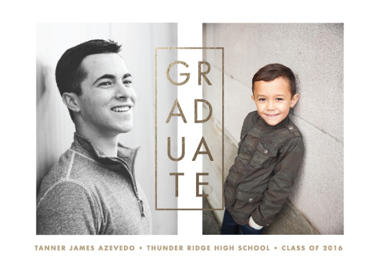 graduation announcements - Past and Present by Paper and Parcel