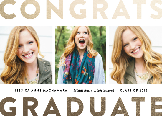 graduation announcements - Boldly stated Grad by Jennifer Wick